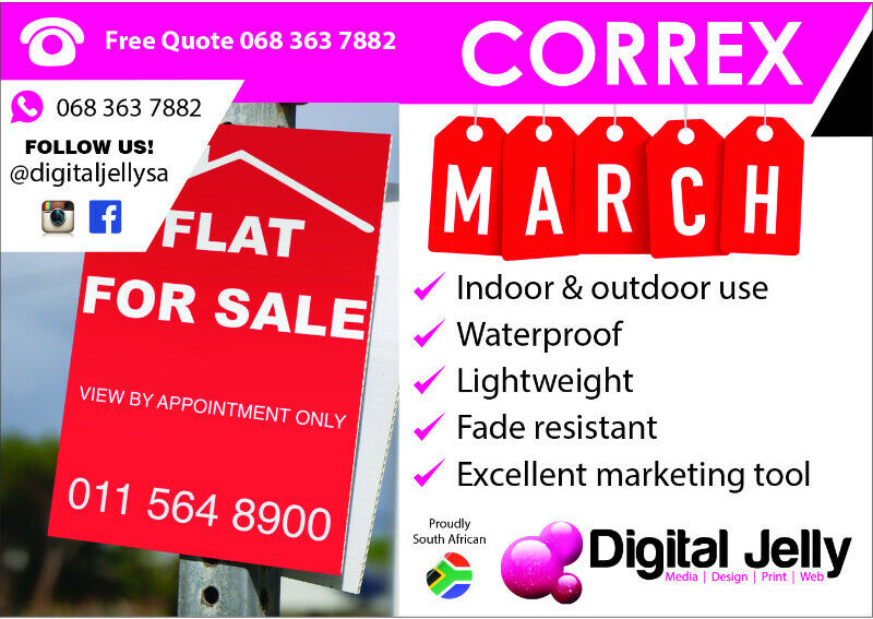Street Pole Ads / Estate Agent Correx Boards
