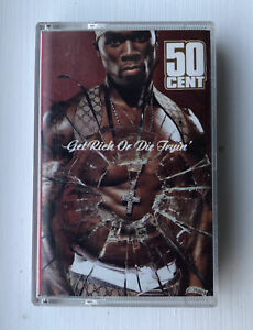 50 CENT Get Rich or Die Tryin' (trying) Cassette Tape RARE music
