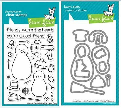 sLawn Fawn Photopolymer Clear Stamp & Die Combo - MAKING FROSTY FRIENDS ~362,579