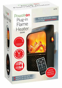 Remote-Control-Log-Fire-Portable-Plug-In-Electric-Heater-with-Timer-Speed-500W