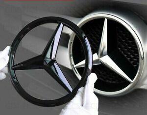 Mercedes-noir-brillant-calandre-avant-Star-Badge-Couvrir-Un-C-GLA-CLA-ML-CLS-E-Classe
