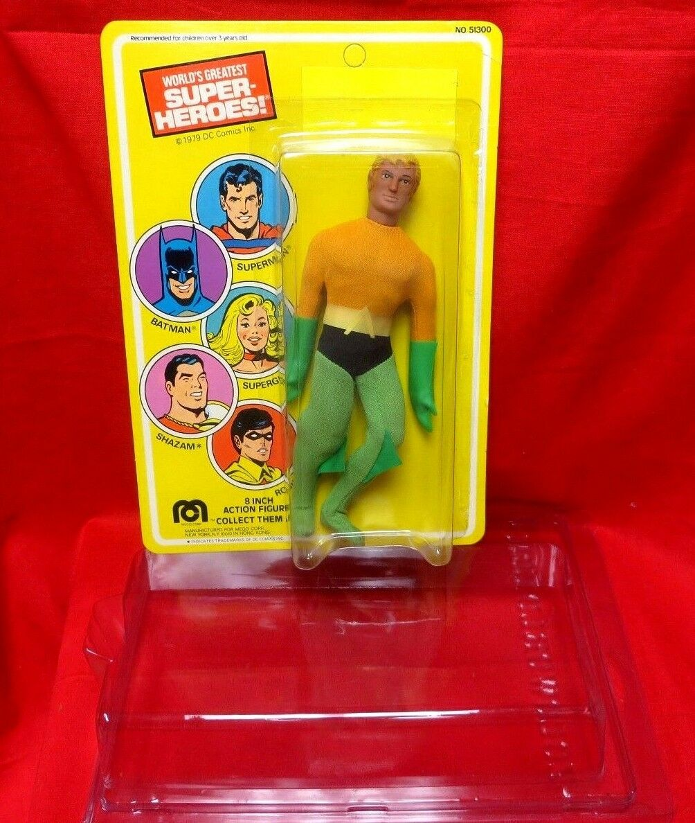MEGO VINTAGE 1970's  JOEZETA :  1979 LAST ISSUE AQUAMAN ON SUPERMAN CARD