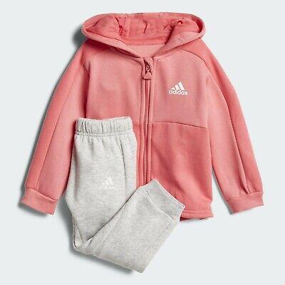 Adidas Infant Girls Sports Crew Jogger Full Tracksuit Kids Children Full Set