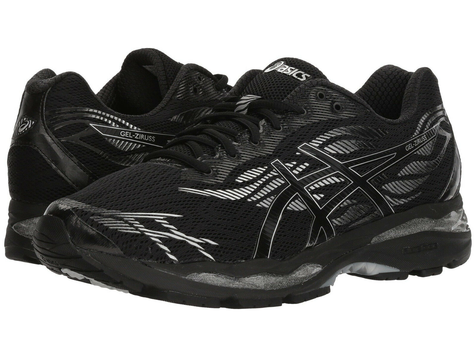 ASICS GEL-ZIRUSS, Men's Sizes 12.5-13 D, Black Black Silver, NEW