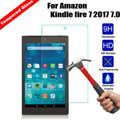 Screen Protector For Amazon Kindle fire 7 2017 2018 7.0 Tempered Glass 2.5D Film