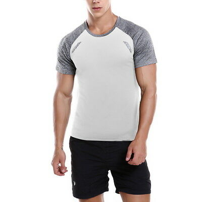 Stylish Sport Men High Elastic Running T-shirt O-Neck Short Sleeve Fitness Tee