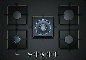 Piano-cottura-a-gas-BOSCH-PPQ7A6B10-di-75-cm-Vetro-temperato-Nero
