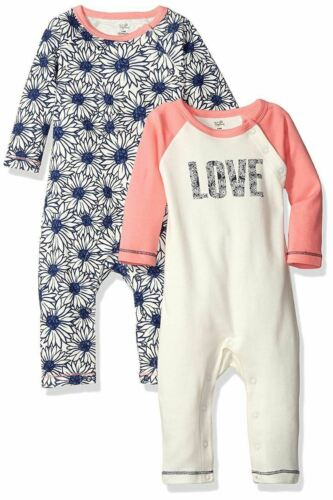 Touched by Nature Organic Cotton Union Suit//Coverall Daisy 2-Pack