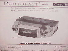 1970 FORD MUSTANG MACH I BOSS 351 302 429 RANCHERO GT AM-FM RADIO SERVICE MANUAL