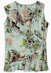 BN-NEXT-MINT-GREEN-FLORAL-WRAP-PRINTED-TOP-BLOUSE-TUNIC-SIZE-6-22-ONLY-14-99