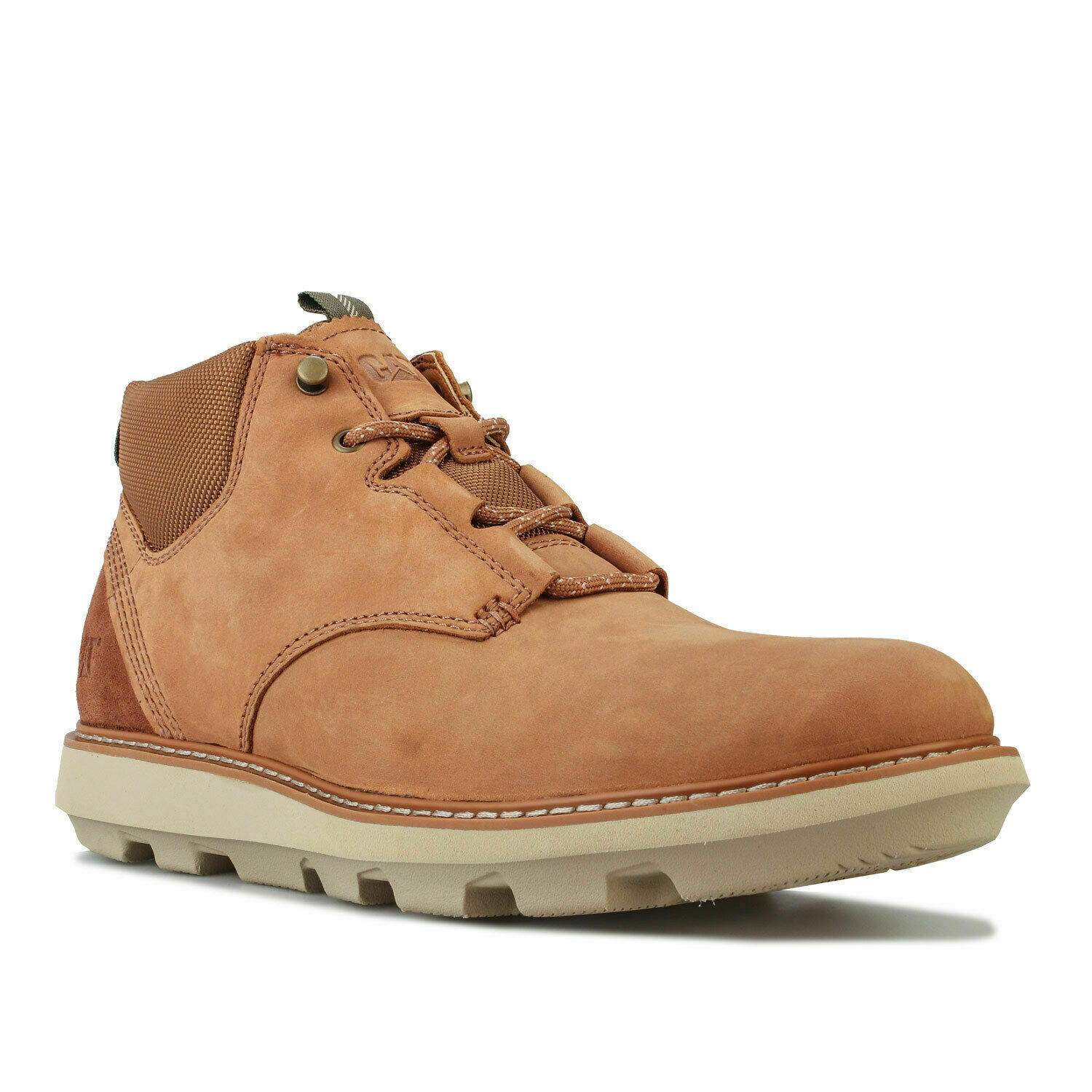Caterpillar Brusk Mens Casual Lace Up Leather Smart Ankle Boots