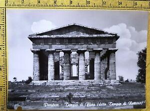 199-PAESTUM-TEMPIO-DI-FLERA-DETTO-NETTUNO-CARTOLINA-POSTCARD-NON-VIAGGIATA