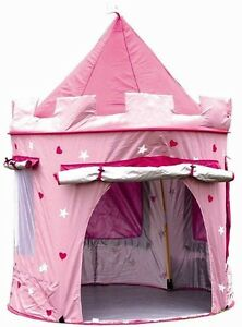 Image is loading Girls-Pop-Up-Tent-Castle-Playhouse-Wendy-House-  sc 1 st  eBay & Girls Pop Up Tent Castle Playhouse Wendy House Pink Indoor-Outdoor ...
