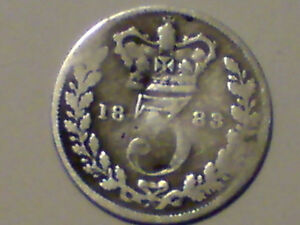 1883 silver threepence
