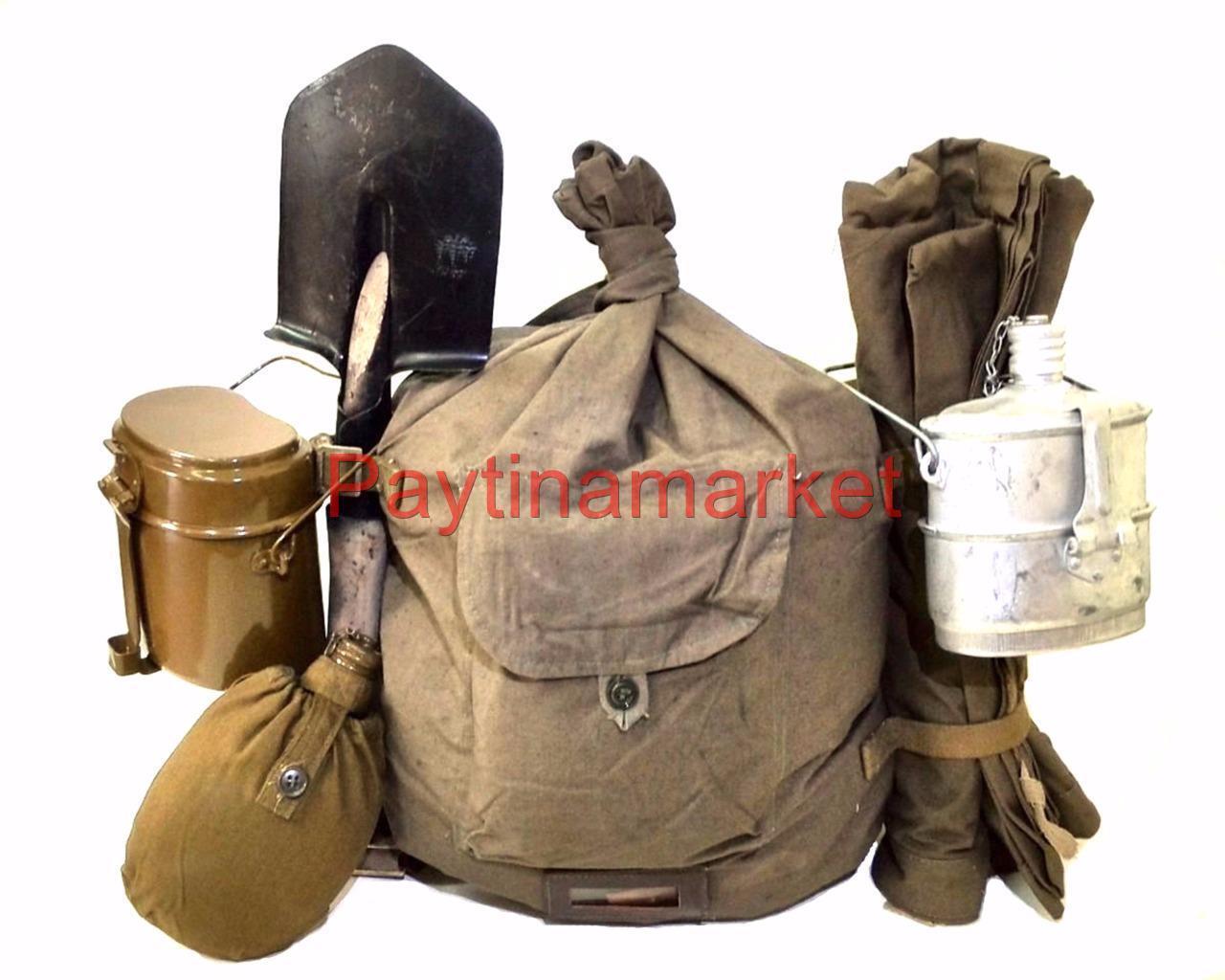 Equipo militar SOLDADO URSS almuerzo WDW ejército de tienda de campaña manto Pala Kitbag matraz