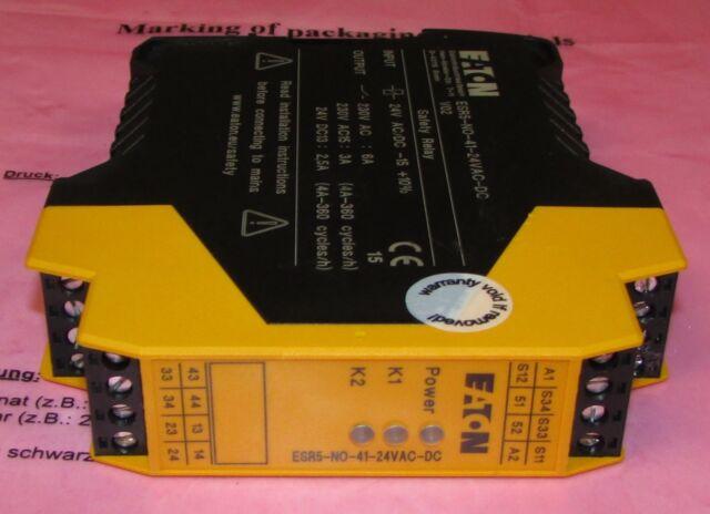 Eaton ESR5-NO-31-24VAC-DC Sicherheitsrelais Not-Halt 24V AC//DC 118702