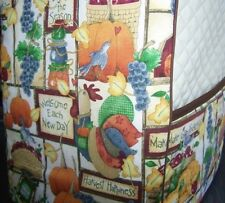 Rustic Harvest Roosters Quilted Fabric Cover for KitchenAid Mixer NEW