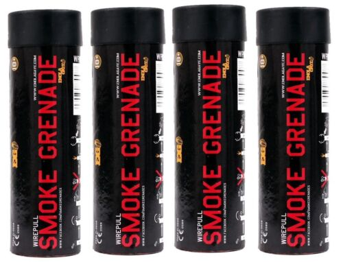4 RED Colored Smoke for Gender Reveal Party Film Airsoft Wedding Photography