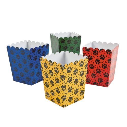 Paquete De 12 cajas de palomitas de maíz Fiesta Cachorro Mini Caja de Regalo de Fiesta Loot Bolsa De Siembra