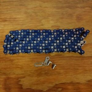 BICYCLE-BMX-CHAIN-FOR-20-INCH-BIKES-SCHWINN-OTHERS-NOS-BLUE