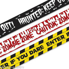 30ft Assorted Halloween Mixed Warning Party Fright Tape Decoration