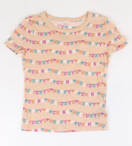 BDG heureux F cking Vacances T-shirt rose m NEUF
