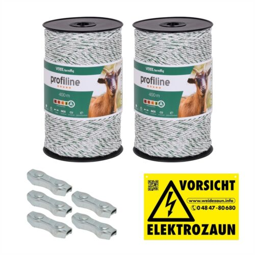 800m 3mm Weidezaunlitze Elekto Zaun Schaf Ziege Rinder Milchkühe Geflügel ua