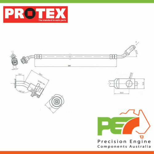 Front For NISSAN NAVARA D21 2D Ute RWD. New *PROTEX* Hydraulic Hose