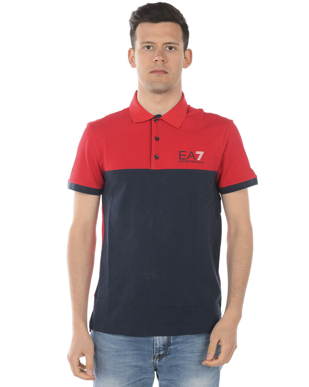 Emporio Armani Ea7 Polo Shirt Cotton Man rot 3GPF04 PJ61Z 1450 Sz. S PUT OFFER