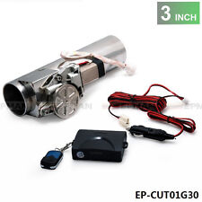 """3.0"""" Electric I-Pipe Exhaust Downpipe Cutout E-Cut Out Valve System Kit+Remonte"""
