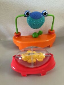 Lot-2-Toys-4-Fisher-Price-Rainforest-Friends-Jumperoo-Barrel-Spinner-Frog-Mirror