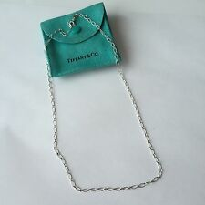 "Authentic Tiffany & Co Silver 16"" Oval Link Necklace Chain"
