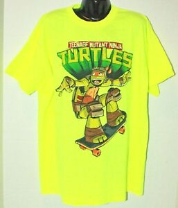 17fa4611146 Image is loading TMNT-TEENAGE-MUTANT-NINJA-TURTLES-MICHELANGELO-YELLOW-SHIRT -