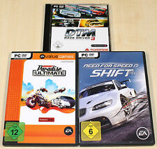 PC SPIELE SAMMLUNG DTM RACE DRIVER 3 BURNOUT PARADISE NEED FOR SPEED SHIFT
