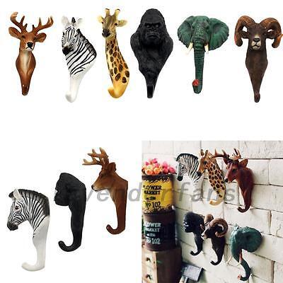 Animal Deer Antlers Decorative Wall Hook Rack Coat Hat Key Hanging Rack