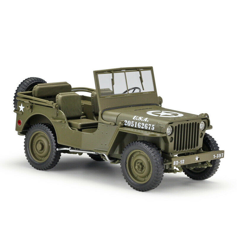 1 18 WELLY Diecast Car Model 1941 Jeep Willys MB WWII US Military Collection