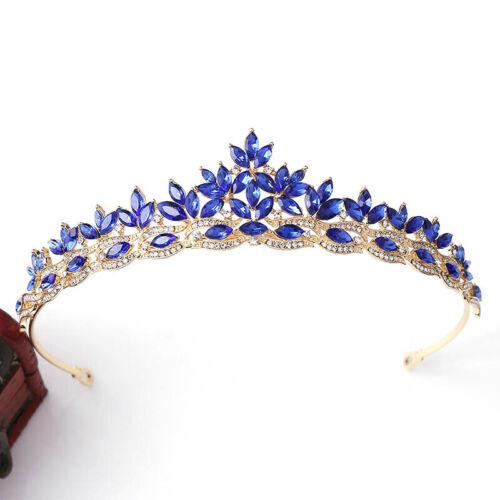 Korean Wedding Headpiece Leaf Set Crystal Bride Crown Catwalk Festival Tiara