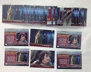 Dealer-Lot-of-43-Sets-2002-Topps-Lord-of-The-Rings-2-Towers-P1-P2-Promo-Set
