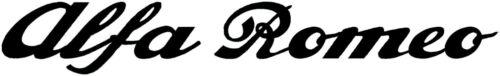ca Alfa Romeo Schriftzug Logo Aufkleber 41,5 cm x 7,5 cm Emblem 2 Stück