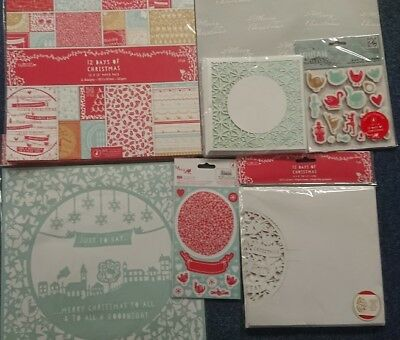 DOCRAFTS PAPERMANIA BARE BASICS GIFT WRAPPING KIT SET TAGS PEGS CARD NEW