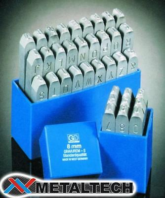 10 mm STEEL LETTERS /& NUMBERS 36-PIECE STAMPING SET MADE IN GERMANY GRAVERUM