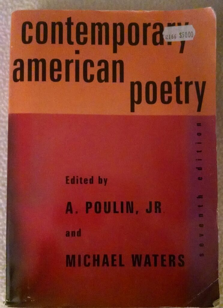 Contemporary American Poetry By Michael Waters And A Poulin 2000