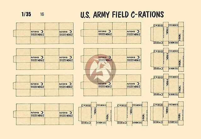 Verlinden Productions 1 35 Us Army Field C Ration Boxes Wwii 16 For Sale Online Ebay