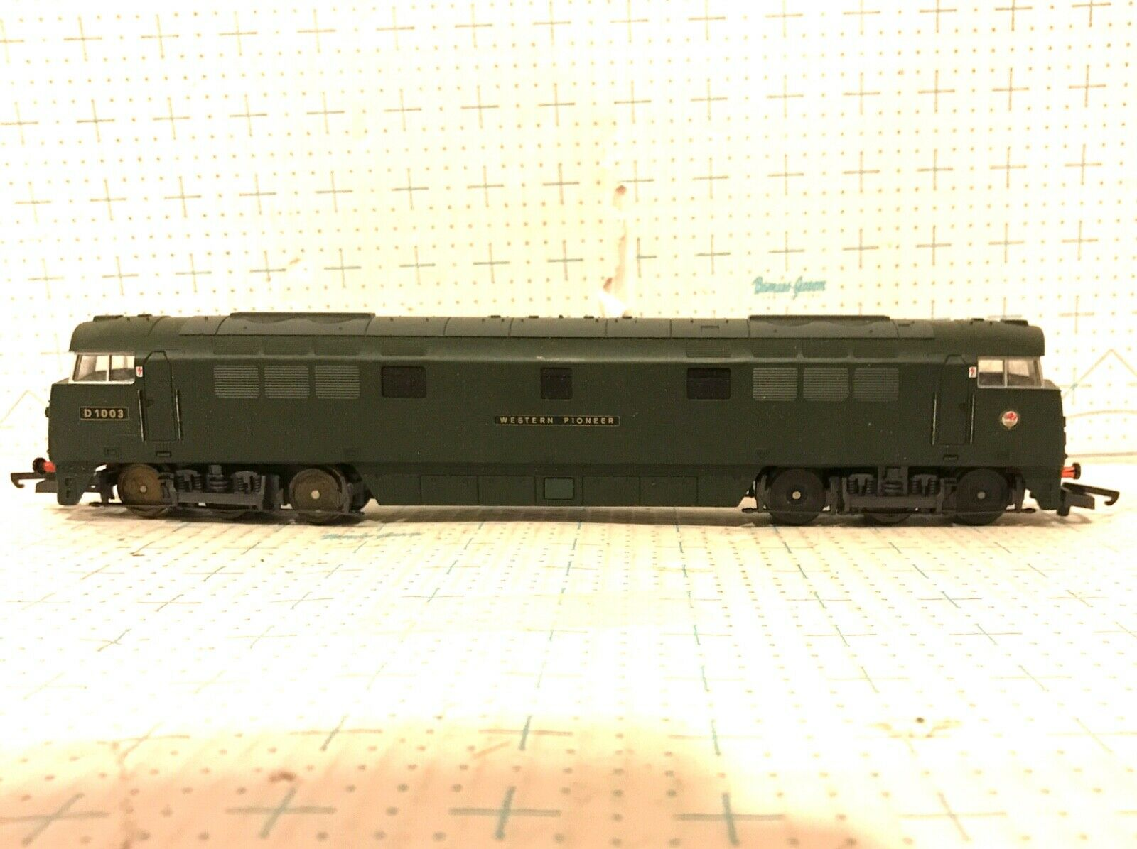 LIMA HO SCALE L205134SD03 classe 52 D1003 WESTERN PIONEER verde Coloreee NO scatola