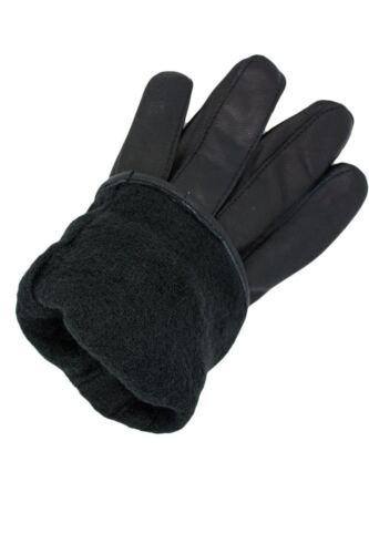 Para Mujeres Dama de Lujo Guantes de pulsera de cuero PU suave conducción de invierno cálido de piel forrada de Reino Unido
