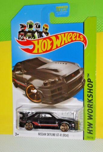 2014 HOT WHEELS HW CITY #225 Nissan Skyline GTR R34
