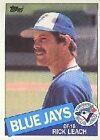 1985 Topps Rick Leach #593 Baseball Card