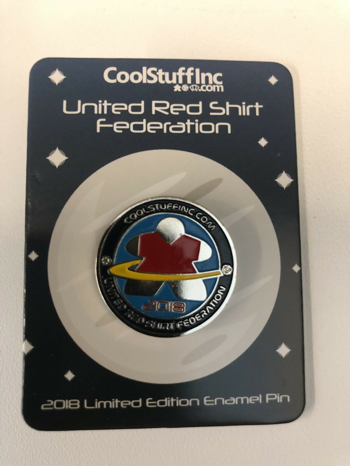 Gen Con 2018 United rouge Shirt Federation Pin Enamel Limited Cool Stuff Inc RARE