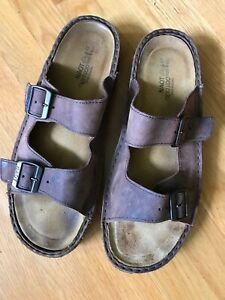 Naot-Men-039-s-Brown-leather-Sandals-Size-14