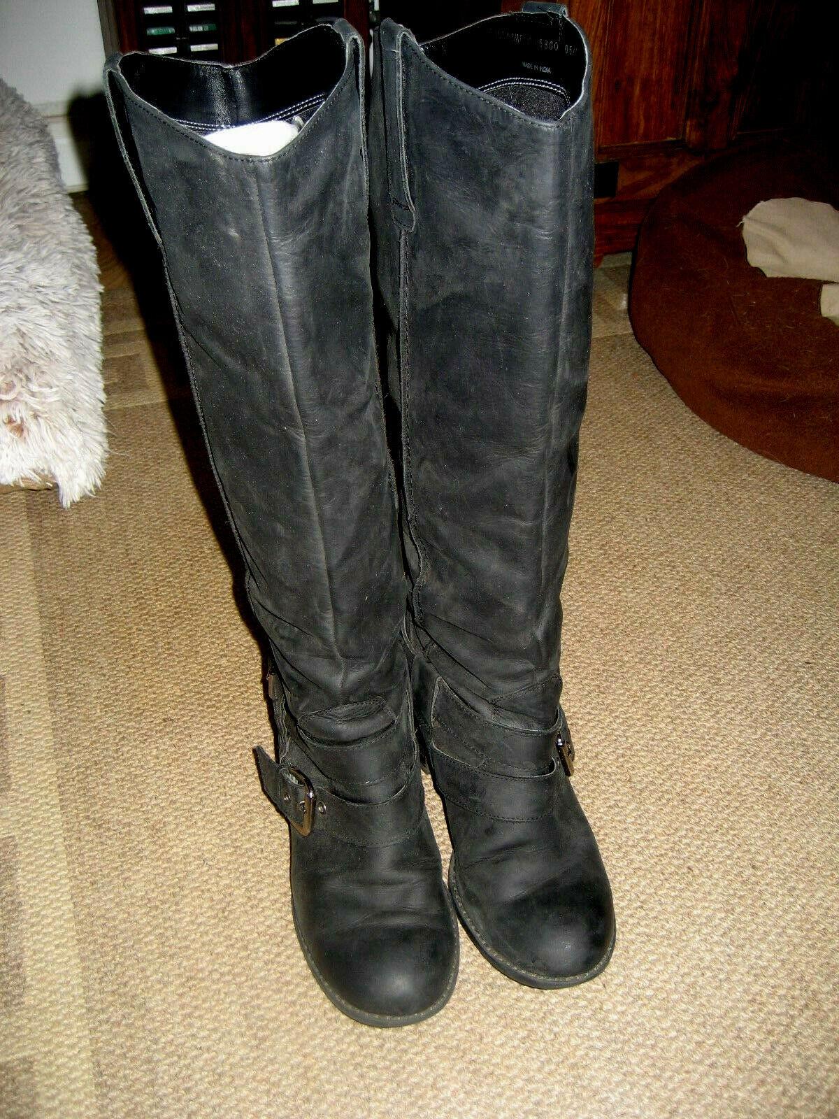 NEXT NUBUCK BLACK LEATHER BOOTS. UK Size 6 39